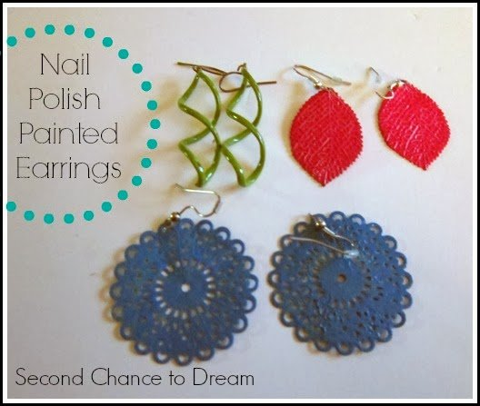 Second Chance to Dream: DIY nail polish painted earings