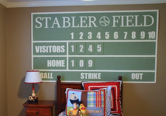 scoreboard Teen Boy Bedroom Ideas....
