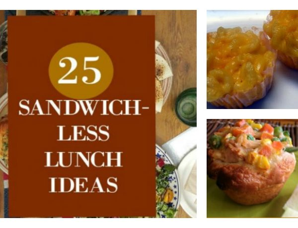 Second Chance to Dream: 25 Sandwich-less Lunch Ideas #lunches #makeahead Sick of sandwiches for lunch? Here are 25 sandwich-less lunch ideas to help you.