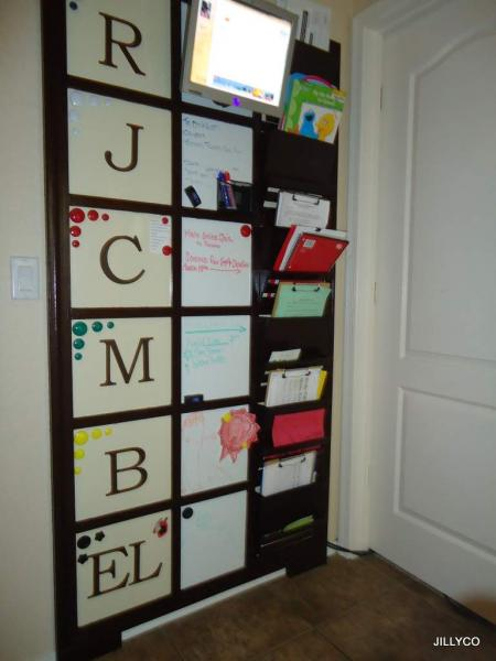 PB Kids inspired Family Daily Organization Board