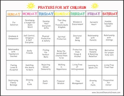 Praying for Our Children- Week 2