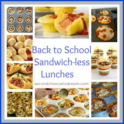 Sandwich Less+Lunches Back to School Sandwich less Lunch Ideas