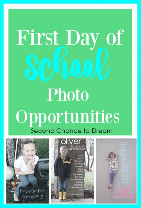 Second Chance to Dream: First Day of School Photo Opportunities #BacktoSchool #photoops