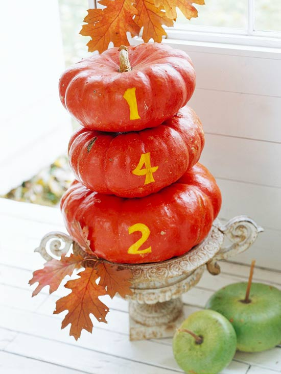 Pumpkin House-Number Sign