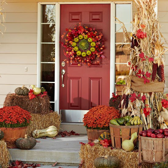 Harvest-Inspired Fall Front Entry