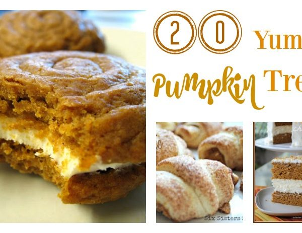 Second Chance to Dream: 20 Yummy Pumpkin Treats #pumpkin #Thanksgiving