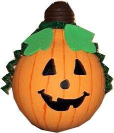 How to Make a Pumpkin Out of a Light Bulb