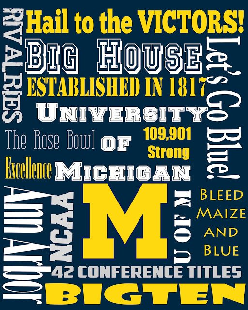 Second Chance to Dream: U of M printable #footballfun