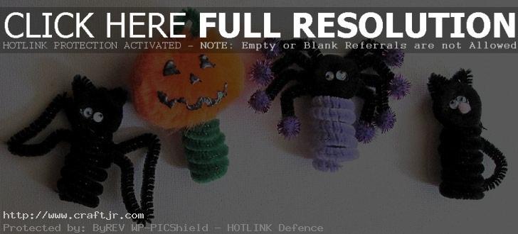 easy halloween craft puppet Halloween Kids Crafts: Easy Finger Puppets