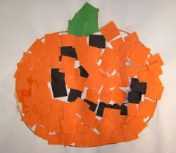 Pumpkin mosaic