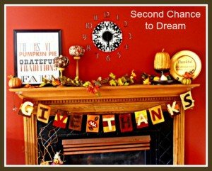 """Give Thanks"" Fall Mantel"
