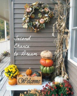 Second Chance to Dream: My Fall Front Porch