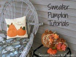 Second Chance to Dream: Sweater Pumpkins #falldecor