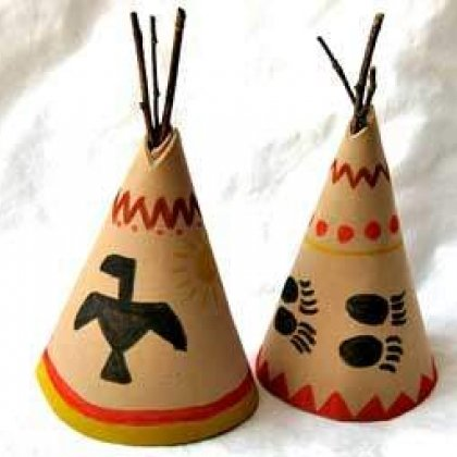 350x355 teepees1 rdax 65 15 Kids Thanksgiving Crafts