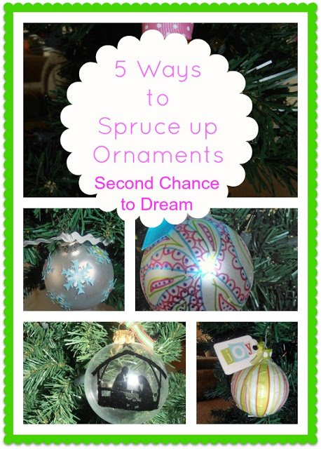 Christmas+Ornaments 5 Ways to Spruce up your Ornaments with Scrapbooking Supplies