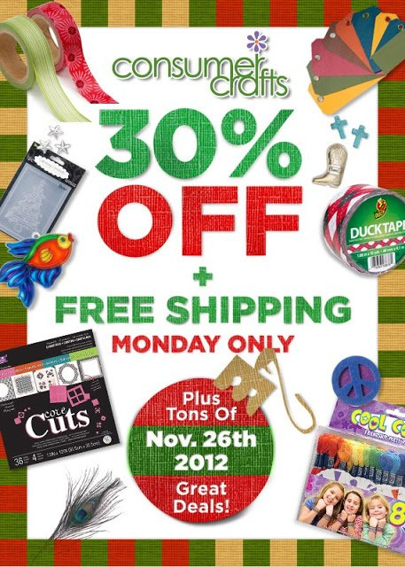 Consumer Crafts promotional image Consumer Crafts Cyber Monday Sale
