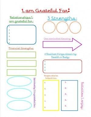 Grateful Journal Sheet
