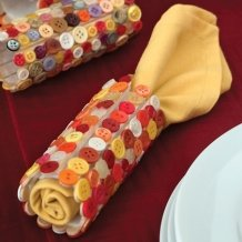 Indian Corn Napkin Rings Table Deccoration