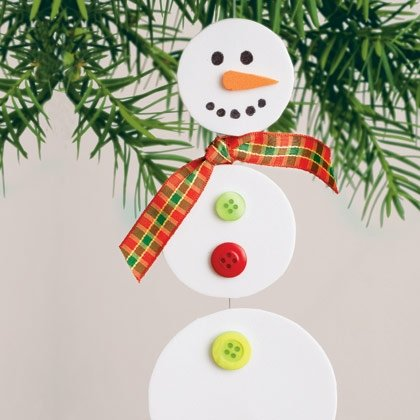 dangling snowman christmas craft photo 420 FF0107TREEA14 15 Kids Christmas Crafts