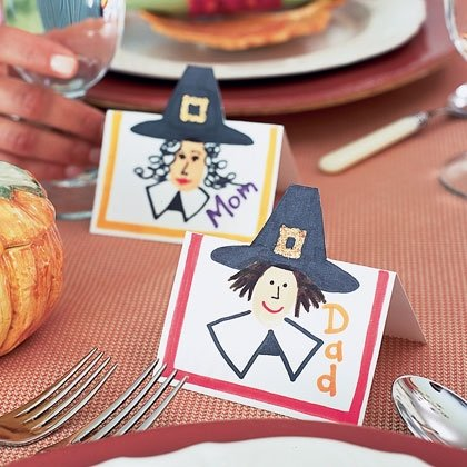 pilgrim place cards thanksgiving craft photo 420 FF1101THANKA13 15 Kids Thanksgiving Crafts