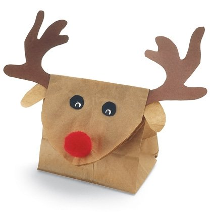 reindeer gift bag christmas craft photo 420 FF1105ALMFA04 15 Kids Christmas Crafts