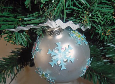 snowflake 5 Ways to Spruce up your Ornaments with Scrapbooking Supplies