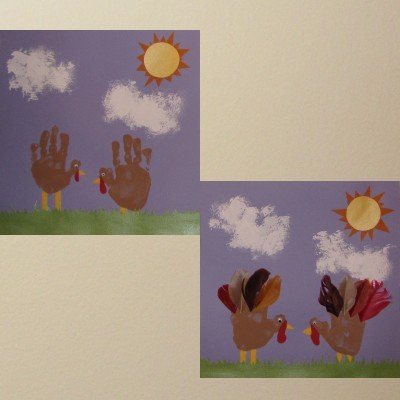 turkeyhands 15 Kids Thanksgiving Crafts