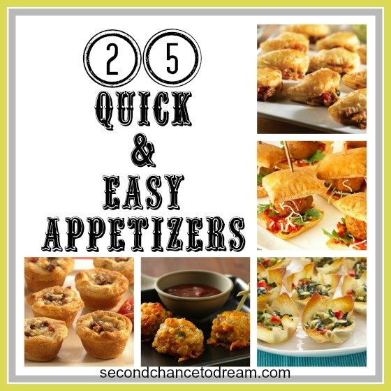 25+Easy+Appetizers {25 Quick & Easy Appetizers}