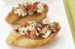 Basil & Tomato-Feta Bruschetta recipe