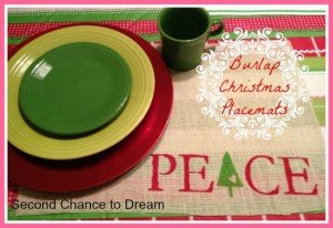 Second Chance to Dream: Christmas Burlap Placemats