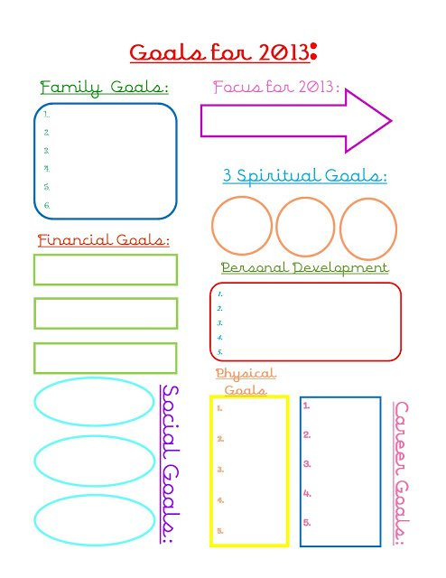 Goals+for+2013 2012 Reflections... Printable