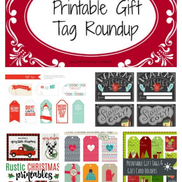 Second Chance to Dream- Printable Gift Tag Round-up #wrapping #christmas