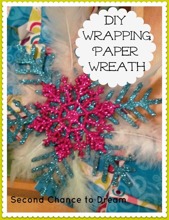 Second Chance to Dream: DIY Wrapping Paper Wreath