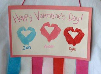 Valentine Handprint Wall Hanging
