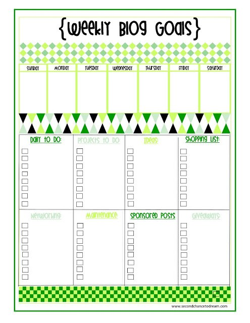 Weekly+Blog+Goals1 {Weekly Blog Goals} Printable + Planner Dividers