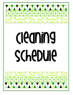 acleaning+schedulegr {My Life in One Little Book}  Printable Planner in 2 Colors