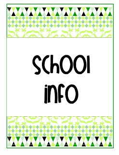 aschool+infogr {My Life in One Little Book}  Printable Planner in 2 Colors