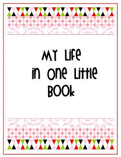 atitle+page {My Life in One Little Book}  Printable Planner in 2 Colors