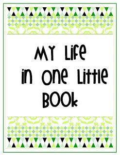 atitle+pagegr {My Life in One Little Book}  Printable Planner in 2 Colors