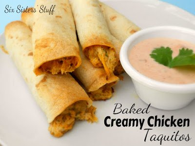 baked+creamy+chicken+taquitos {2013 Super Bowl Fun}