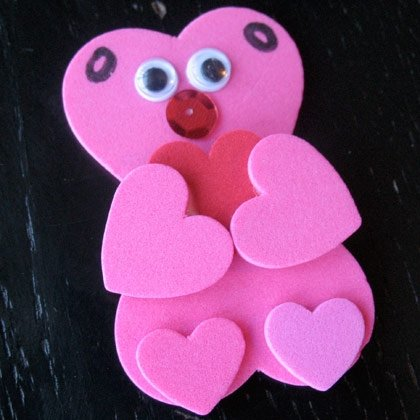 heart bear valentines craft photo 420x420 aformaro 282 15 Kids Valentines Day Crafts