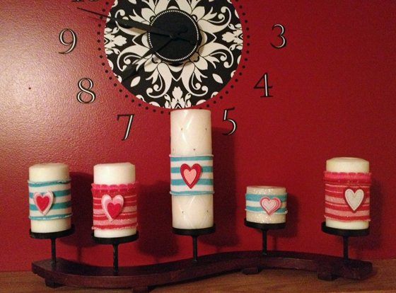 mantel+3 DIY Candle Cozies