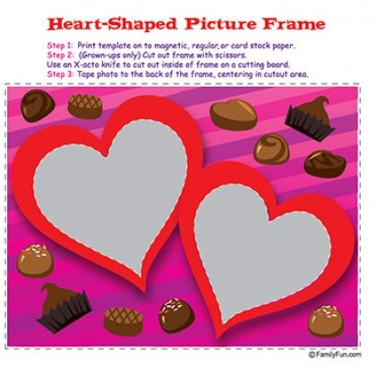 val picture frame 15 Kids Valentines Day Crafts