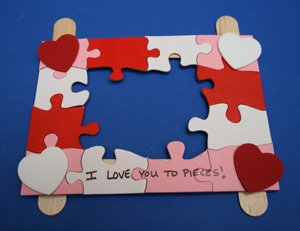 valentines day picture holder craft