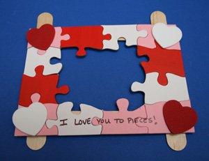 valentines day picture holder craft