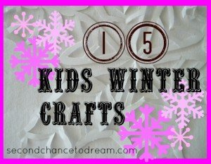 Second Chance to Dream: 15 Kids Winter Crafts #kidscrafts
