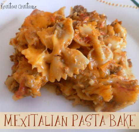 {MexItalian Pasta Bake}