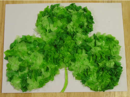 St Patricks Tissue Paper Shamrock best 15 Kids St. Patricks Day Crafts