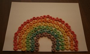 fruit loops rainbow craft 15 Kids St. Patricks Day Crafts