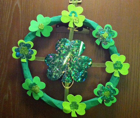 Second Chance to Dream: DIY Dollar Store St. Patricks Day Wreath
